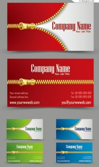 Vector material of golden zipper card