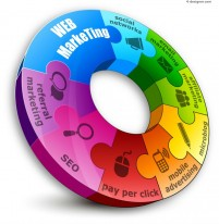 Vector material of gorgeous ring Information graph