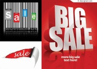 Vector material of mall promotion poster