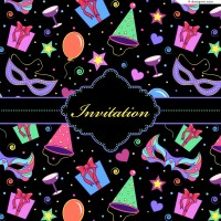 Vector material of party invitation card cover
