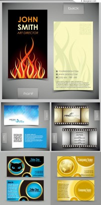 Vector material of personalized business card