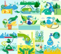 Vector material of poster for clean energy and environmental protection
