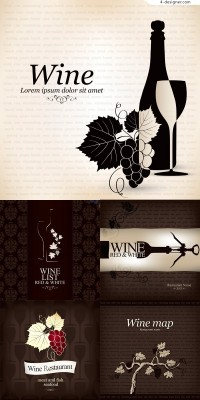Vector material of wine creative design