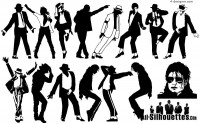 15 Michael Jackson silhouette vector materials