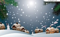 2 exquisite cartoon snow vector material