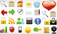 3D web of practical icon vector material