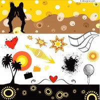 A collection of practical fashionable element vector material
