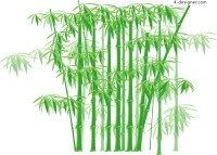 A patchwork of green bamboo vector material