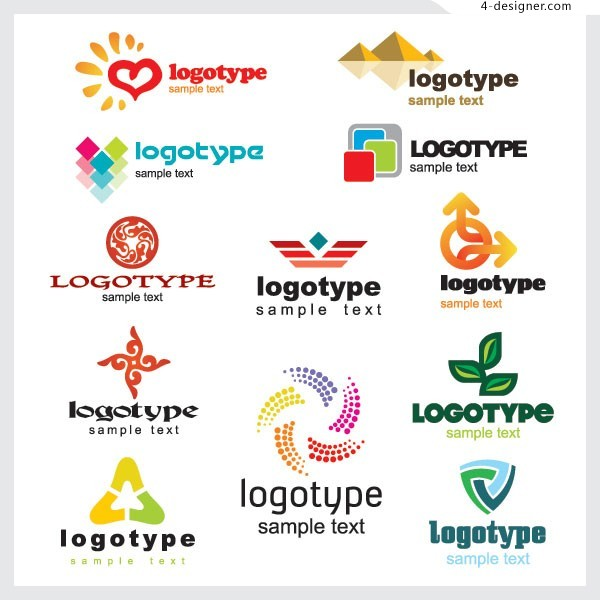 A variety of exquisite LOGO template vector materials