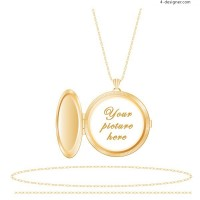 A very beautiful golden pendant photo vector material