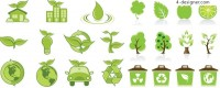 An exquisite green icon vector material