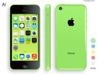 Apple iPhone5C vector material
