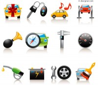 Auto related icon vector material