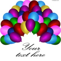 Background color balloons vector material