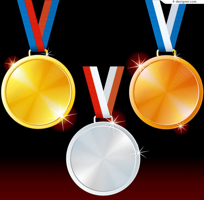 Beautiful Olympic medal design template vector material