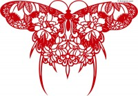 Beautiful butterfly silhouette design vector material
