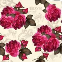 Beautiful flowersl background vector material