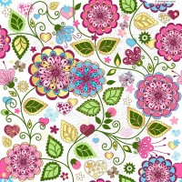 Beautiful hand painted flowers vector background material
