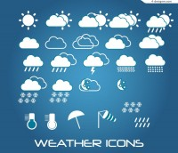 Beautiful white weather icon vector material