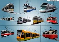Beautifully tram vector material