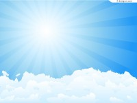 Blue sky clouds vector material