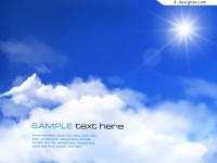 Blue sky vector material