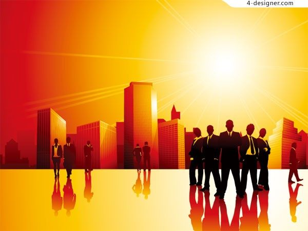 Business and Urban vector material