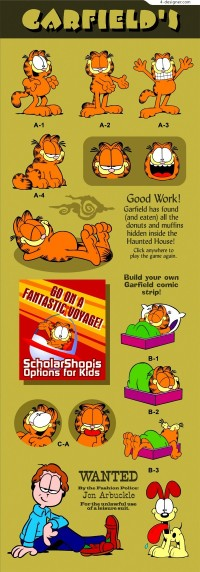 Cartoon Garfield vector material