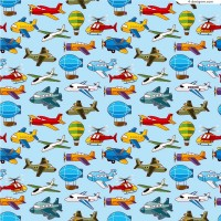 Cartoon airplane background vector material