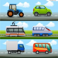 Cartoon common transport vector material