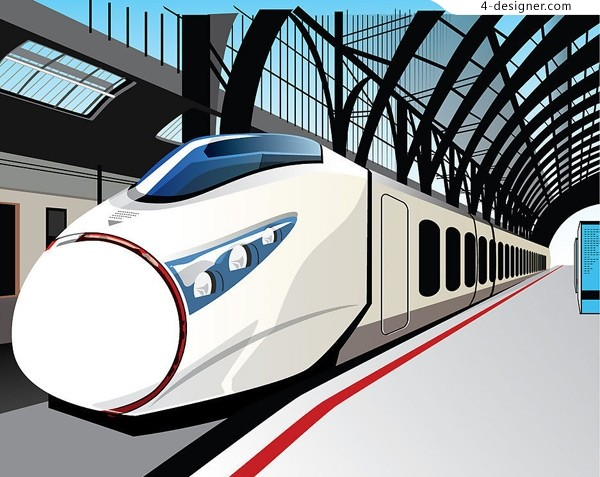 Cartoon style of High Speed 8203 8203 Rail vector material