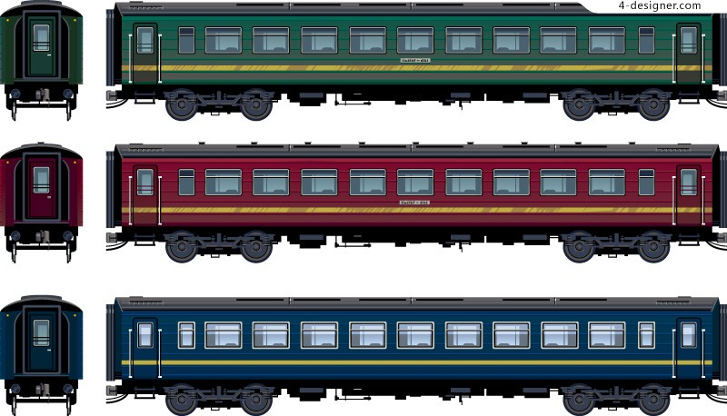 Cartoon train vector material
