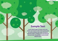 Cartoon trees vector background material
