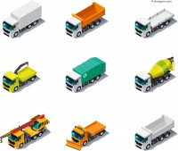 Cartoon vector material for transport vehicles