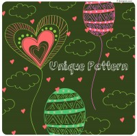 Childlike love hand drawn vector material