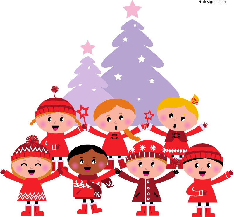Christmas choir vector material