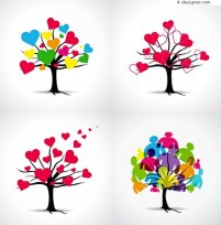 Color Giving Tree vector material