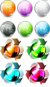 Color technology icon vector material
