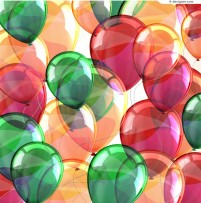 Colorful balloons background vector material