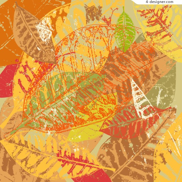 Colorful leaves vector material