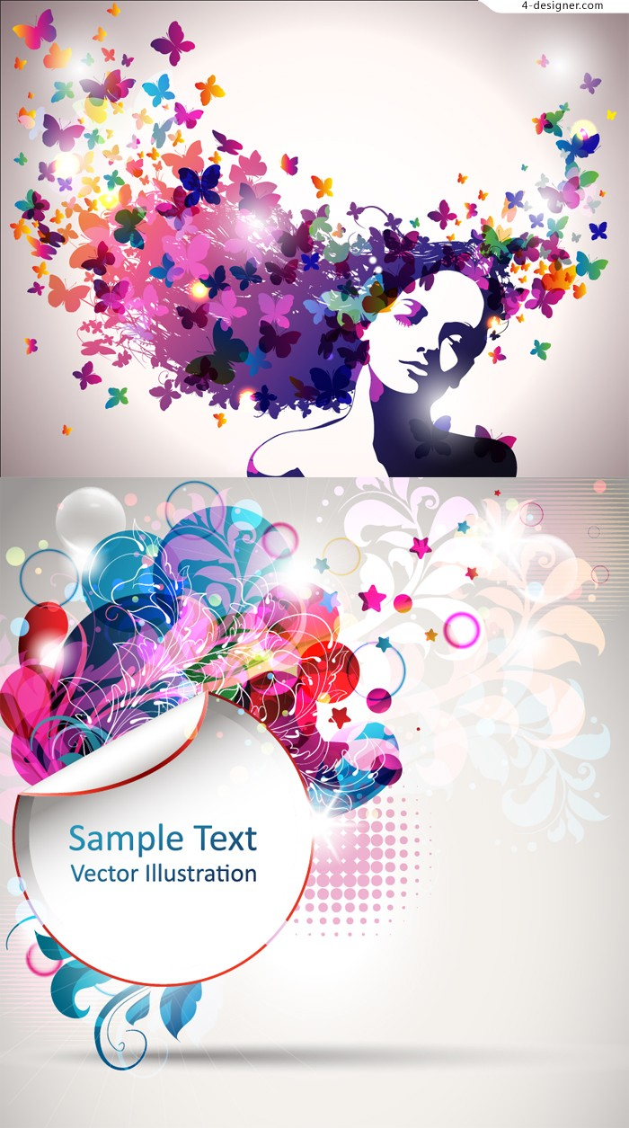 Colorful pattern decorative background vector material