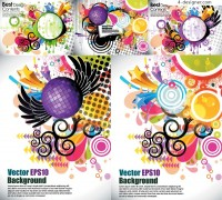 Colourful graphic background vector material