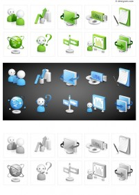 Computer Technology classic icon vector material