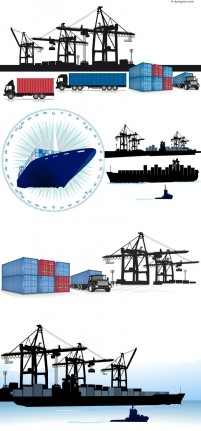 Container Terminal vector material