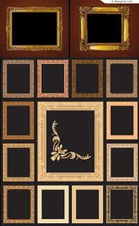 Continental ornate frame vector material