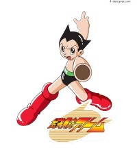 Cool Astro Boy classic cartoon character vector material