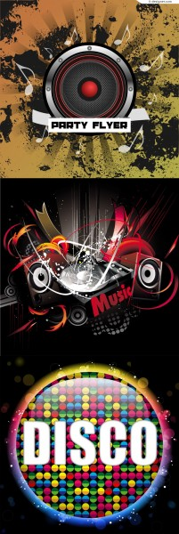 Cool music background vector material