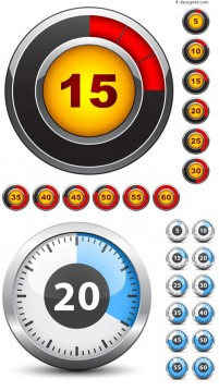 Countdown clock vector material