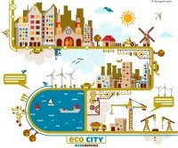 Creative City illustrator vector material