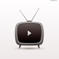 Creative TV vector material